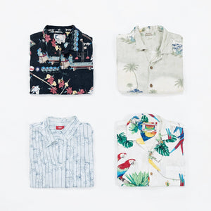 Preloved Short Sleeve Hawaiian Shirts | Set of 3
