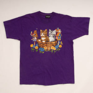 Vintage 90s Basket of Kittens T-Shirt Vintage Goodfair