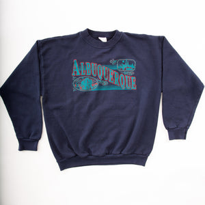 Vintage 90s Albuquerque, NM Sweatshirt with Large Front Graphic