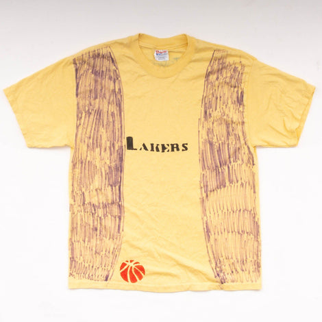 Vintage 90s Homemade Lakers T-Shirt