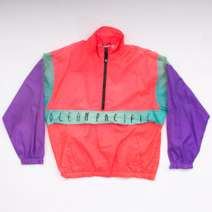 Vintage 90s Ocean Pacific Color Block Windbreaker Vintage Goodfair