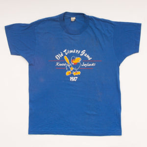 Vintage 87 Kansas Jayhawks Old Timers Game T-Shirt Vintage Goodfair