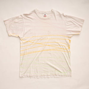 Vintage 90s Multi-Color Horizontal Stripe T-Shirt