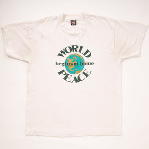 Vintage 90s 'World Peace Begins at Home' T-Shirt
