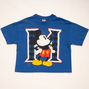 Vintage 90s Mickey Mouse Crop Top T-Shirt