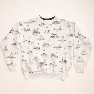 Vintage 90s 'Lighthouses of The Great Lakes' Sweatshirt