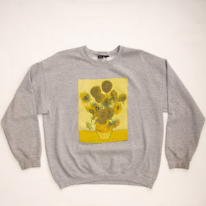 Vintage 90s Vincent VanGogh Sunflowers Sweatshirt