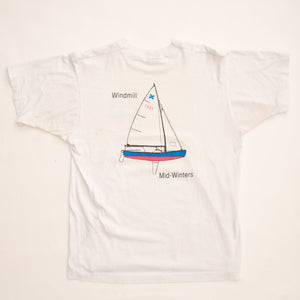 Vintage 1991 Windmill Mid-Winters Sailboat T-Shirt