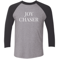 Joy Chaser Raglan Tri-Blend Shirt (White Design)