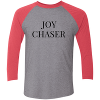 Joy Chaser Raglan Tri-Blend Shirt (Black Design)