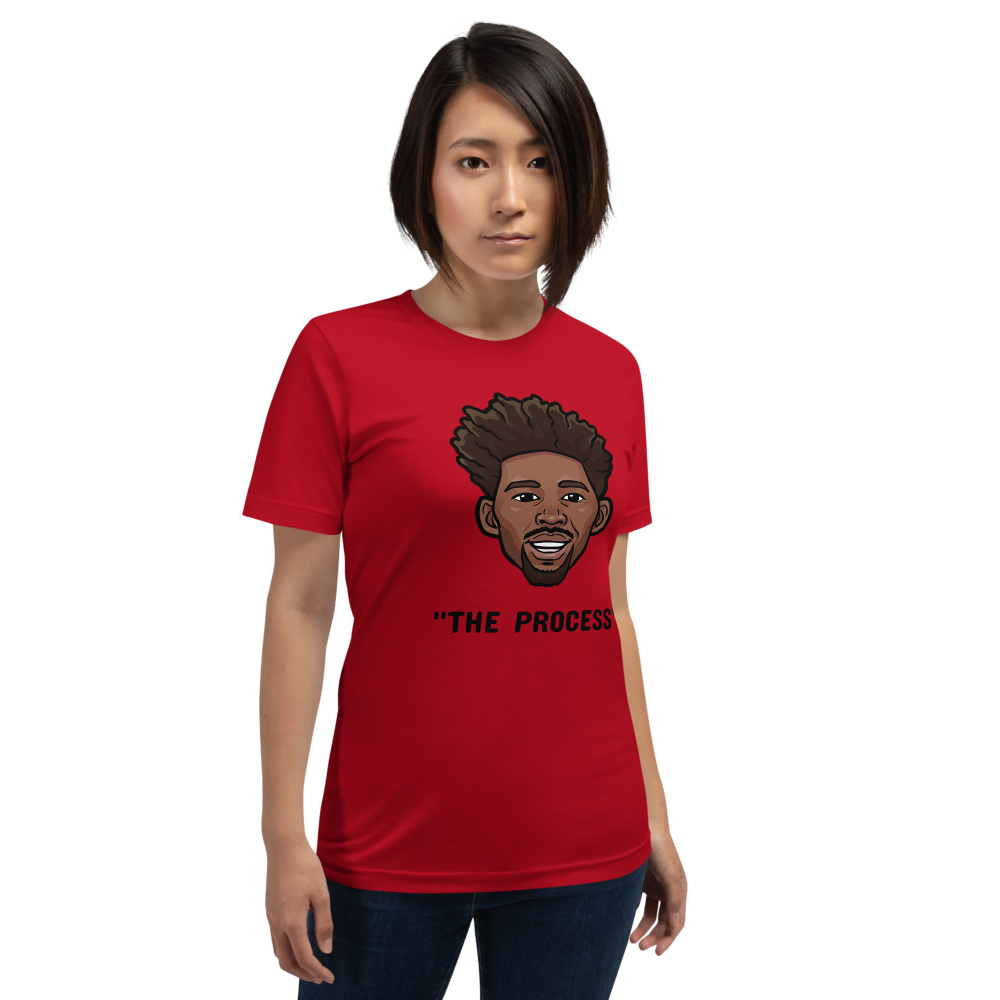 """The Process"" Joel Embiid Big Head Unisex T-Shirt"