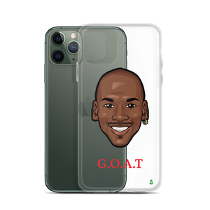 """G.O.A.T"" Michael Jordan Big Head iPhone Case"