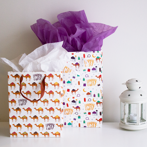 Happy Eid - Gift Bag | camel, camel (medium)