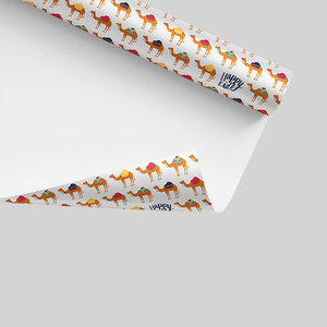 Happy Eid - Wrapping Paper |  camel, camel