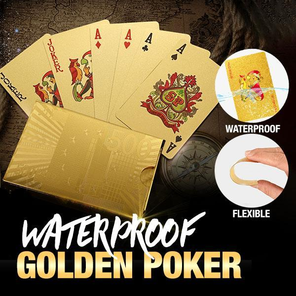 24K Gold Waterproof Poker