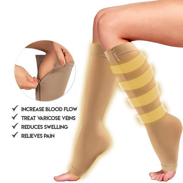 Zippered Compression Support Socks