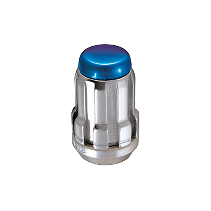 McGard SplineDrive Lug Nut (Cone Seat) M12X1.5 / 1.24in. Length (Box of 50) - Blue Cap (Req. Tool)