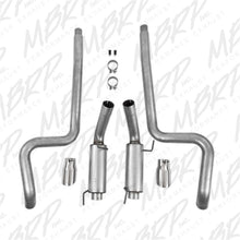 Load image into Gallery viewer, MBRP 05-09 Ford Mustang GT 4.6L Dual Split Rear Race Version AL/ 3in Cat Back Exhaust System