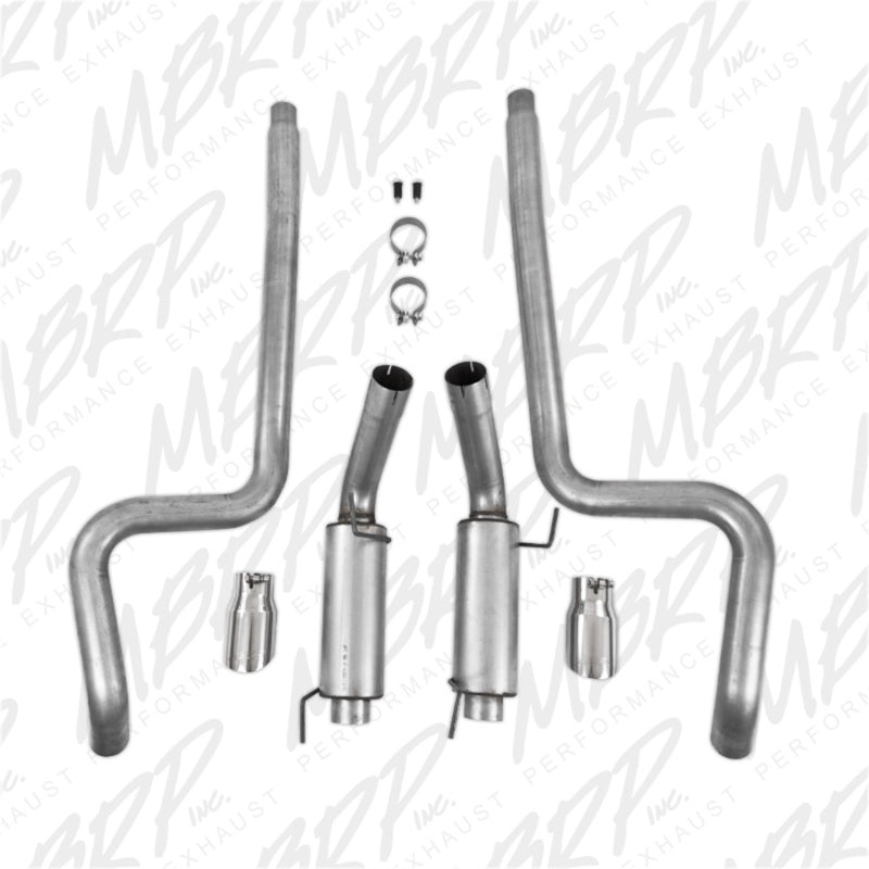 MBRP 05-09 Ford Mustang GT 4.6L Dual Split Rear Race Version AL/ 3in Cat Back Exhaust System