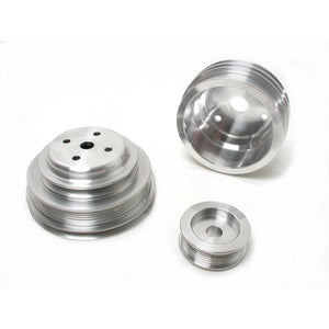 BBK 85-97 GM Truck 305 350 Underdrive Pulley Kit - Lightweight CNC Billet Aluminum (3pc)