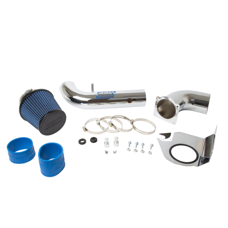 BBK 94-98 Mustang 3.8 V6 Cold Air Intake Kit - Chrome Finish