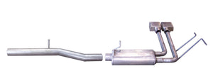 Gibson 10-13 Chevrolet Silverado 1500 LS 4.8L 2.5in Cat-Back Super Truck Exhaust - Aluminized