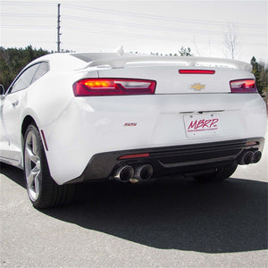 MBRP 2016+ Chevy Camaro SS 6.2L 3in Dual Cat-Back Quad Tip Exhaust Street Version w/ SS T409 Tips
