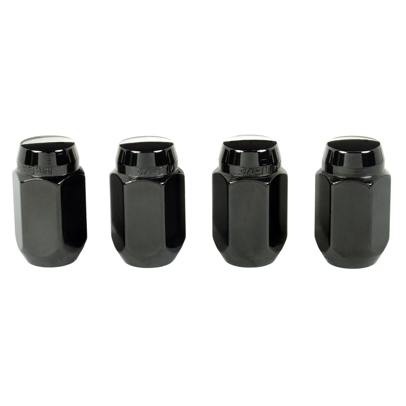 McGard Hex Lug Nut (Cone Seat) 1/2-20 / 13/16 Hex / 1.5in. Length (4-Pack) - Black