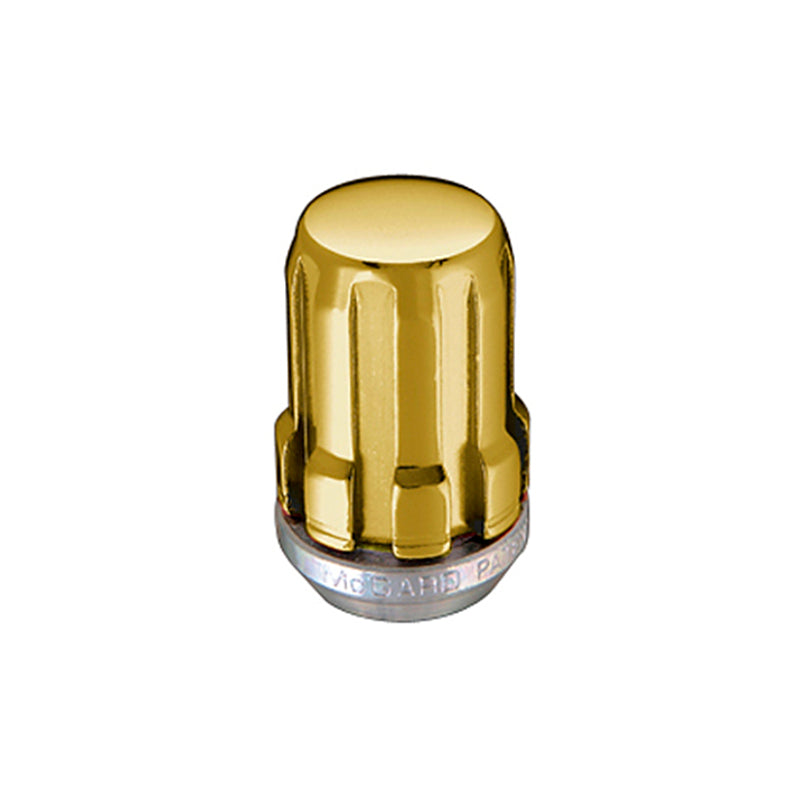 McGard SplineDrive Lug Nut (Cone Seat) M12X1.5 / 1.24in. Length (Box of 50) - Gold (Req. Tool)