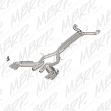 Load image into Gallery viewer, MBRP 2016+ Chevy Camaro SS 6.2L 3in Dual Cat-Back Quad Tip Exhaust Street Version w/ SS T409 Tips