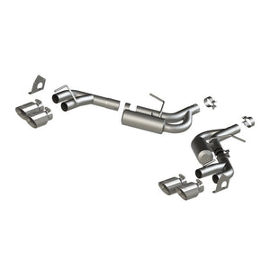 MBRP 16-19 Chevrolet Camaro V6 2.5in T304 NPP Dual Axle Back Exhaust w/ 4in Quad Dual Wall Tips