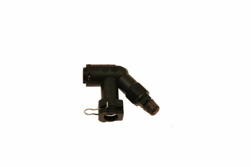 McLeod Fitting Elbow Connector W/Bleed Screw For Wire Clip Male Plug In Fittings