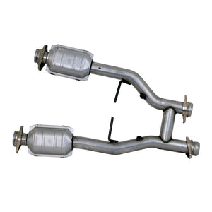 BBK 96-04 Mustang 4.6 GT / Cobra Short Mid H Pipe w Catalytic Converters 2-1/2 For Long Tube Headers