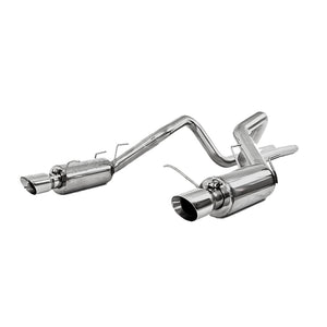 MBRP 11-14 Ford Mustang GT 5.0L Dual Split Rear Street Version T409 3in Cat Back Exhaust System