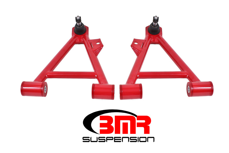 BMR 94-04 Mustang Lower Non-Adj. A-Arms (Coilover Only) w/ STD. Ball Joint (Poly) - Red