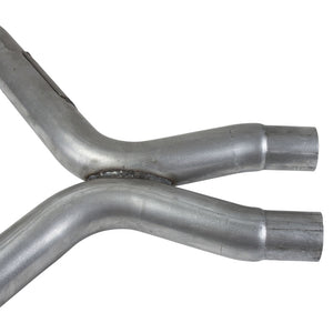 BBK 11-14 Mustang 3.7 V6 Short Mid X Pipe With Catalytic Converters 2-1/2 For BBK Long Tube Headers