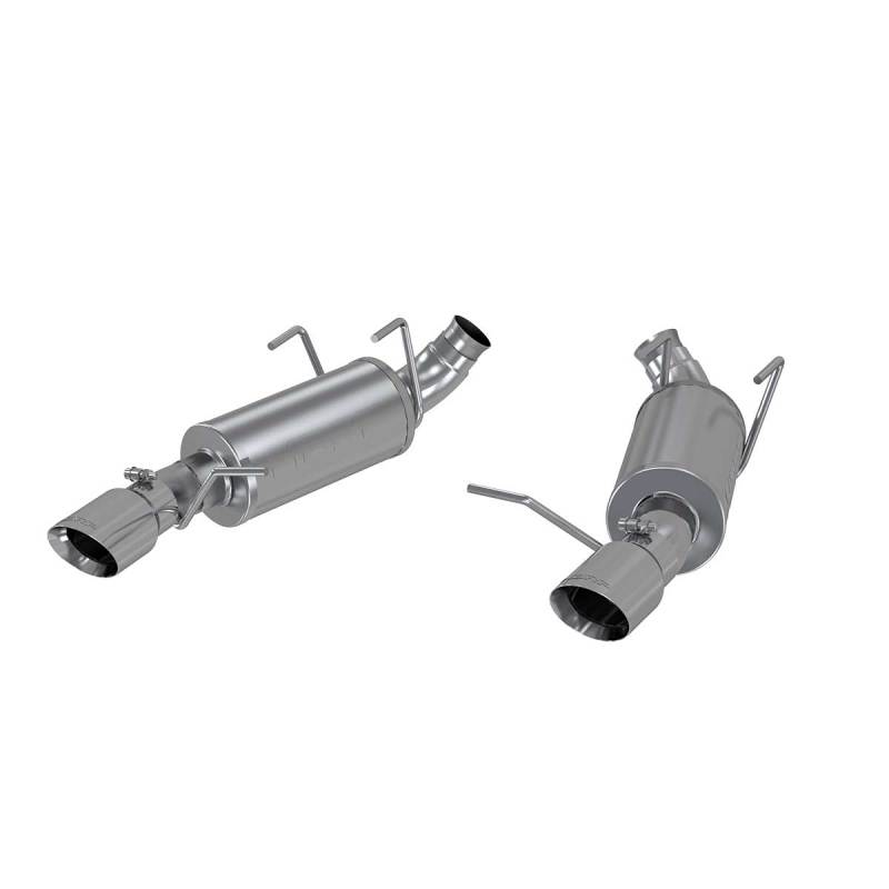 MBRP 11-14 Ford Mustang V6 3in. Dual Muffler Axle Back Split Rear T409 Exhaust System