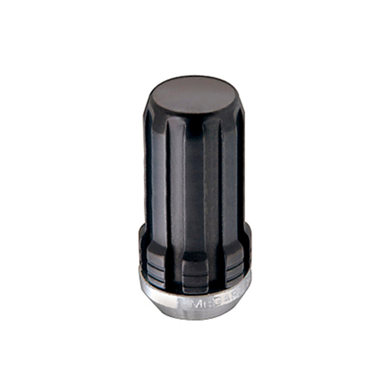 McGard SplineDrive Lug Nut (Cone Seat) M14X1.5 / 1.935in. Length (Box of 50) - Black (Req. Tool)