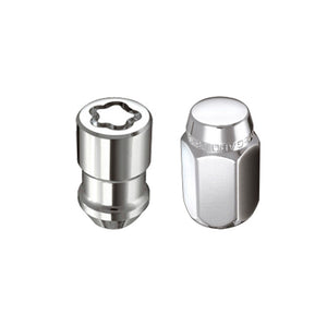 McGard 4 Lug Hex Install Kit w/Locks (Cone Seat Nut) M12X1.5 / 13/16 Hex / 1.5in. Length - Chrome