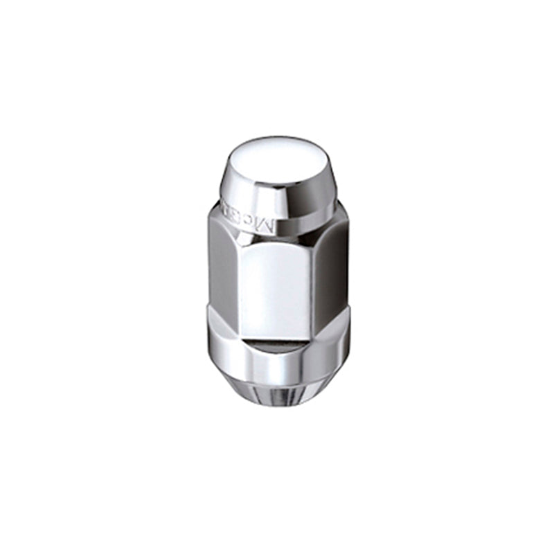 McGard Hex Lug Nut (Cone Seat Bulge Style) M14X1.5 / 22mm Hex / 1.635in. Length (4-Pack) - Chrome