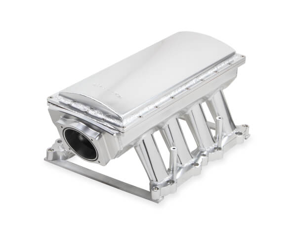 SNIPER EFI FABRICATED RACE SERIES INTAKE MANIFOLD - 2011-14 FORD 5.0L COYOTE - SILVER