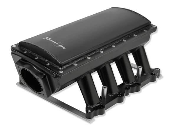 SNIPER EFI FABRICATED RACE SERIES INTAKE MANIFOLD - 2011-14 FORD 5.0L COYOTE - BLACK