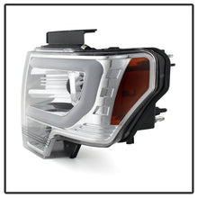 Load image into Gallery viewer, Spyder Ford F150 13-14 Projector Fctry Xenon Model- Light Bar DRL Chrm PRO-YD-FF15013-LBDRL-HID-C