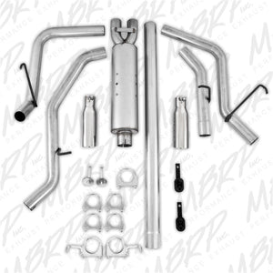 MBRP 2006-2008 Dodge Ram Hemi 1500 5.7L SC/CC-SB Cat Back Dual Split Side