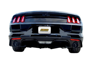 Gibson 15-19 Ford Mustang EcoBoost 2.3L 2.25in Cat-Back Dual Exhaust - Black Elite (Ceramic)