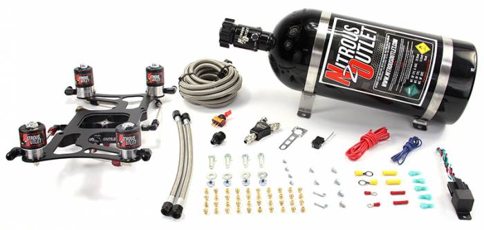 4150 Race Dual Stage Hornet Plate System With Boomerang Offset Solenoid Bracket(100-700HP)