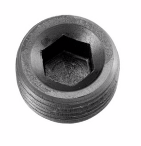 "'-12 (3/4"") NPT Hex Head Pipe Plug - Black"