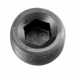 "'-08 (1/2"") NPT Hex Head Pipe Plug - Black"