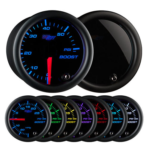 Tinted 7 Color 60 PSI Boost Gauge
