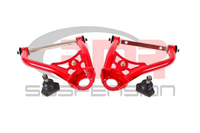 BMR 67-69 1st Gen F-Body Pro-Touring Upper A-Arms w/ Tall Ball Joint (Delrin) - Red